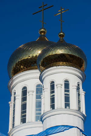 Astana, Kazakhstan - September 25, 2011: Cupolas of the cathedral of the Astana city, Kazakhstan.