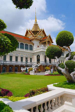 daemon: Bangkok, Thailand - July 08, 2007: Exterior of the Wat Phra Kaew complex buildings in Bangkok, Thailand.