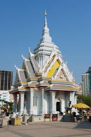 Khon Kaen, Thailand - April 12, 2010: Exterior of the Shrine of the City Pillar of Khon Kaen in Khon Kaen, Thailand.