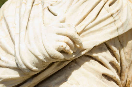 Hand fragment of an ancient statue in Bodrum, Turkey. Stock fotó