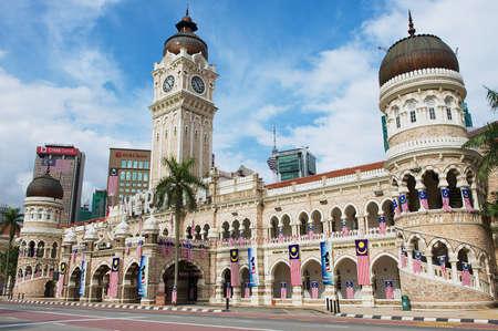 Kuala Lumpur, Malaysia - August 29, 2009: Exterior of the Sultan Abdul Samad Building at the Independence Square (Dataran Merdeka) in Kuala Lumpur, Malaysia.