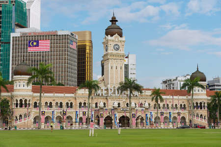 Kuala Lumpur, Malaysia - August 29, 2009: View to the Sultan Abdul Samad Building at the Independence Square (Dataran Merdeka) in Kuala Lumpur, Malaysia.