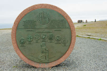 NORTH CAPE, NORWAY - SEPTEMBER 05, 2011: Monument