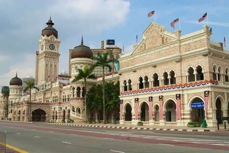 KUALA LUMPUR, MALAYSIA - AUGUST 11, 2008: Exterior of the Sultan Abdul Samad building at the Independence square in Kuala Lumpur, Malaysia.