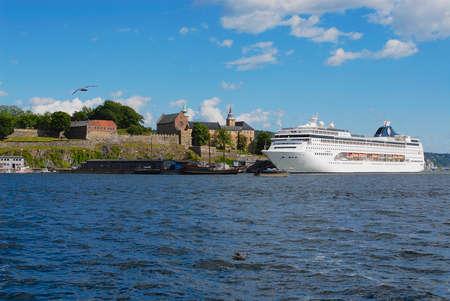 Oslo, Norway - July 10, 2006: MSC Lirica cruise ship in the sea port of Oslo city, Norway. Standard-Bild - 110868896