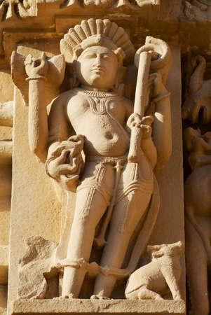 Erotic sculpture at Vishvanatha Temple at the  Western temples of Khajuraho in Madhya Pradesh, India.