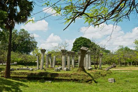 Ruins of the ancient Sacred city in Anuradhapura, Sri Lanka.