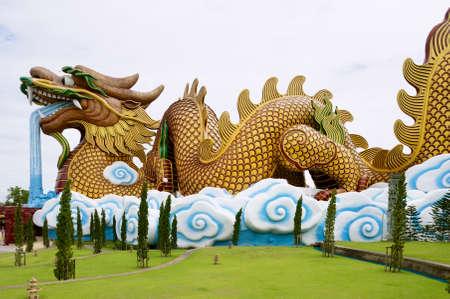 Suphan Buri, Thailand - August 19, 2011: Dragon Descendants museum building in Suphan Buri, Thailand. 報道画像