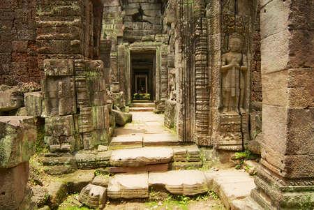 Ruins of the Preah Khan temple in Siem Reap, Cambodia.