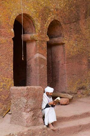 Lalibela, Ethiopia - January 27, 2010: Lilibela, Ethiopia UNESCO World Heritage site.