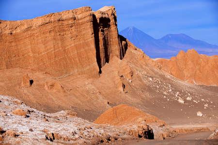 Amphitheater, unique geological formation in the Moon Valley in Atacama Desert near San Pedro de Atacama, Chile.