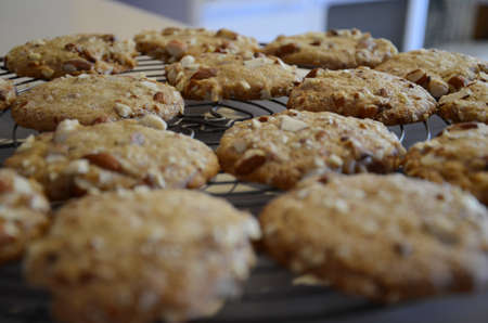 Homemade almond roca cookies Stok Fotoğraf