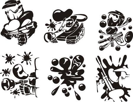Paintball. Extreme sport. illustratie. Vinyl-ready.