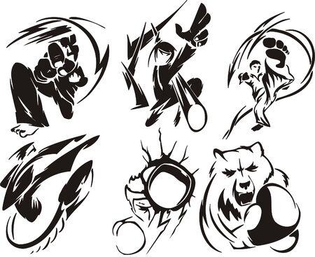 karate. Extreme sport.  illustration. Vinyl-ready. Stock Vector - 7099946