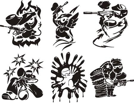 Paintball. Extreme sport.  illustration. Vinyl-ready.