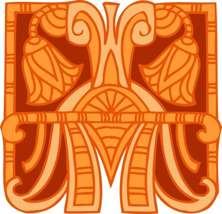 Ancient Egyptian Ornaments . Vector illustration. Ready for vinyl cutting.