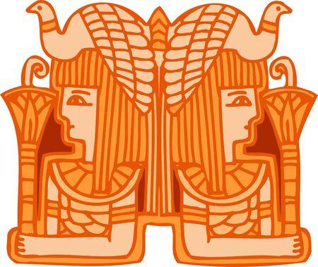 Adornos egipcias antiguas. Ilustración vectorial. Listo para el corte de vinilo.