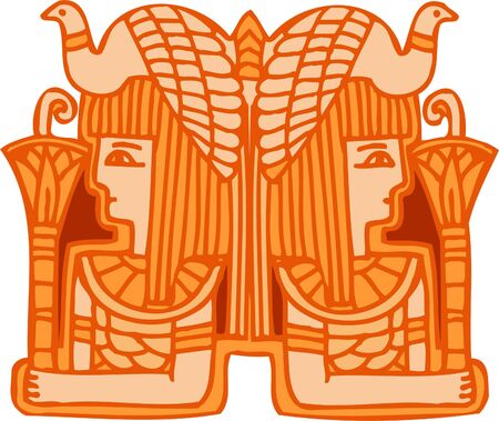 fresco: Ancient Egyptian Ornaments . Vector illustration. Ready for vinyl cutting.