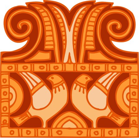 deity: Ancient Egyptian Ornaments . Vector illustration. Ready for vinyl cutting.