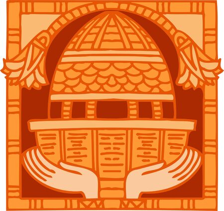 Ancient Egyptian Ornaments . Vector illustration. Ready for vinyl cutting.  Vector