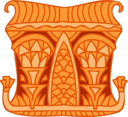 Ancient Egyptian Ornaments . Vector illustration. Ready for vinyl cutting.  Vector
