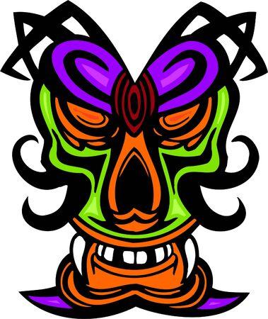 Ancient mask.  Vector