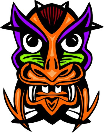 Ancient mask. Stock Vector - 7109356