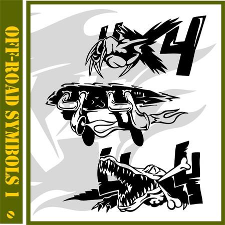 autosport: 4x4 Off-Road Symbol.(Vinyl-Ready).