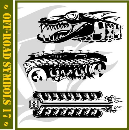 4x4 Off-Road Symbol(Vinyl-Ready). Stock Vector - 7322263