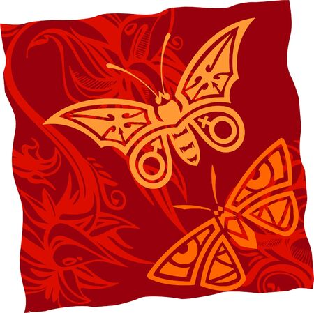 Tribal Butterflies.Vinyl Ready. Vector