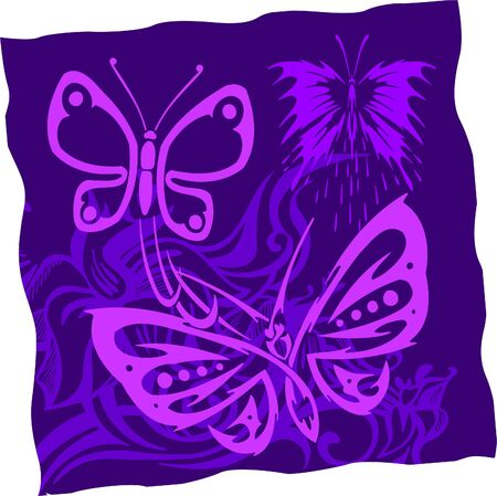 Tribal Butterflies. Vinyl Ready. Vector