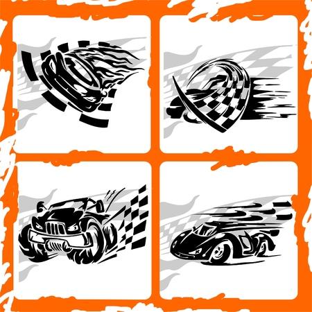 autosport: Tribal Racing Car.Vinyl Ready .