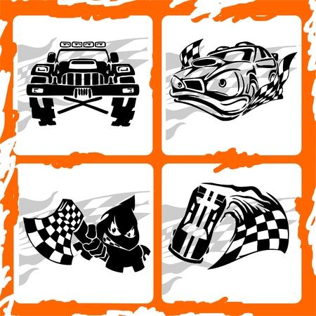autosport: Tribal Racing Car. Vinyl Ready .