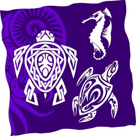 shoal: Tribal Water Monster.Vinyl Ready