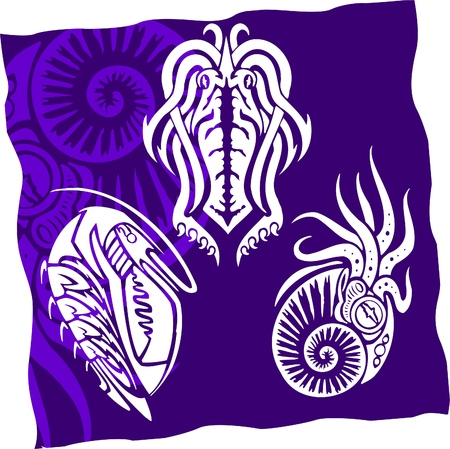 Tribal Water Monster.Vinyl Ready Stock Vector - 7322492