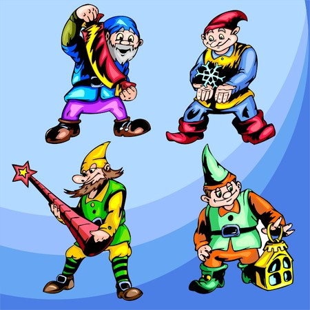 poppers: Gnomes.  Illustration.Vinyl Ready.