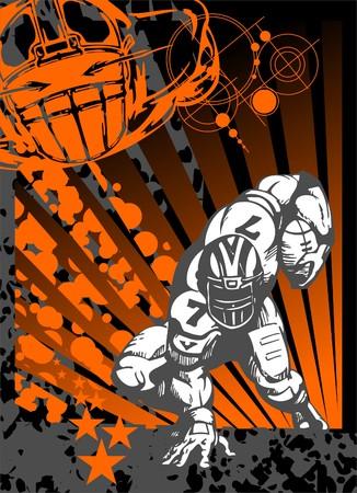 toughness: Football.Illustration.Vinyl pronto.