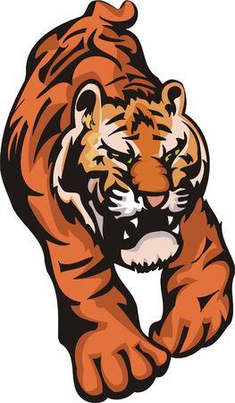 freedom logo: Tigre antes de un salto. Grandes felinos.