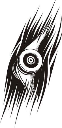 biomechanics: Biomechanics. Ready for vinyl cutting.  Illustration
