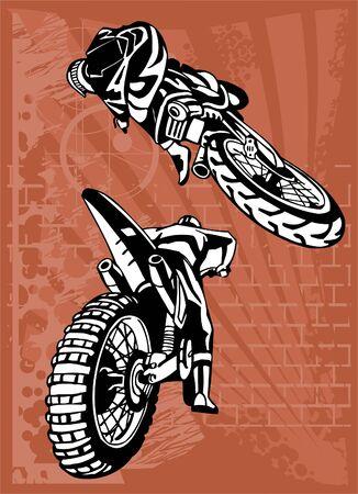 motorcross: Moto. Listo de Illustration.Vinyl.