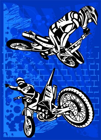 motocross: Motorbike.  Illustration.Vinyl Ready.