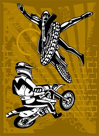 showoff: Motorbike. Illustration.Vinyl Ready.