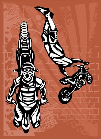 Motorbike.Vector. Illustration.Vinyl Ready. Vector