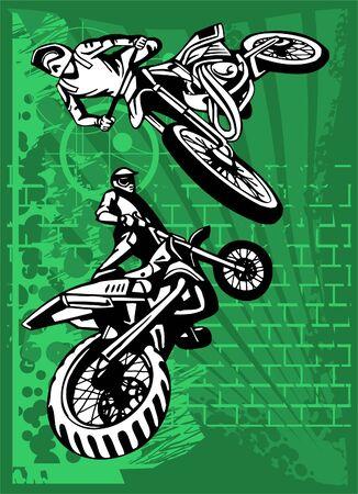 Motorbike.  Illustration.Vinyl Ready. Vector