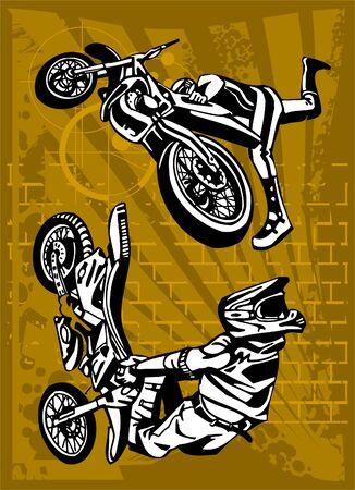 showoff: Motorbike. Illustration.Vinyl Ready.