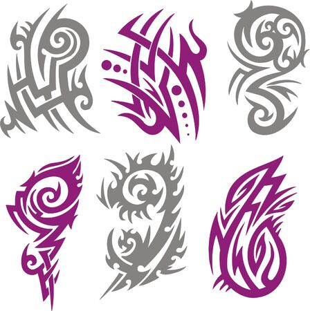 tribal tattoo: Tribal Tattoo Set Vector Illustration. Collection
