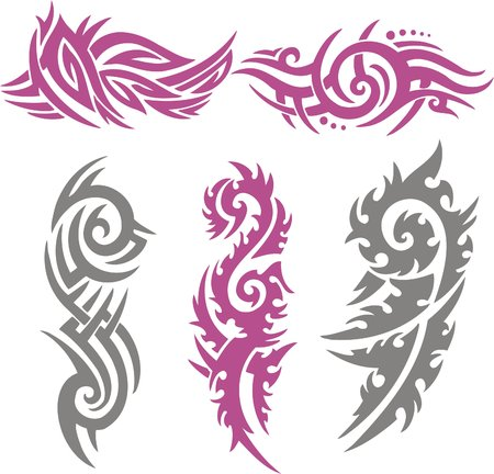 Tribal Tattoo Set Vector Illustration. Collection  Stock Vector - 8070285