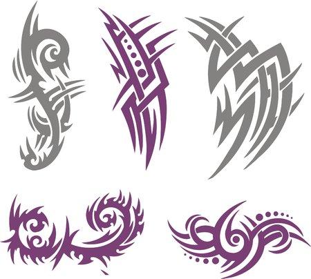 resplandor: Ilustraci�n de Vector Set Tattoo tribales. Colecci�n  Vectores