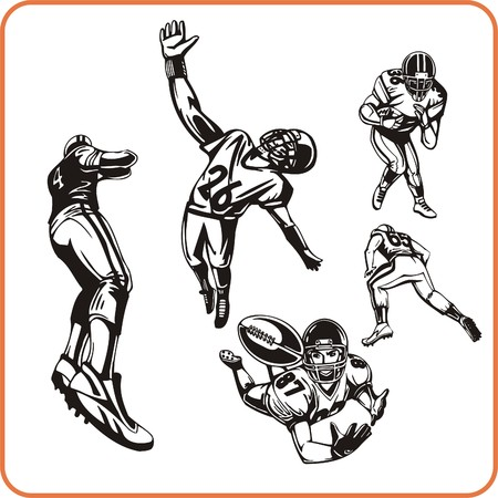 nfl: American Football Player vector illustration.