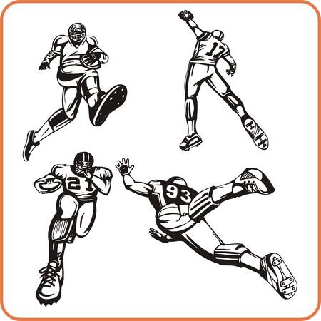 Illustration de vecteur de joueur de football américain.